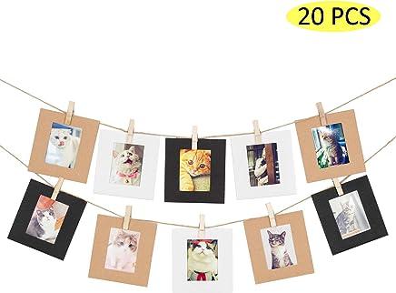 0fc01933df Amimy 20 PC marco de fotos papel Fijar para Fujifilm Instax Mini 7s 8 8+