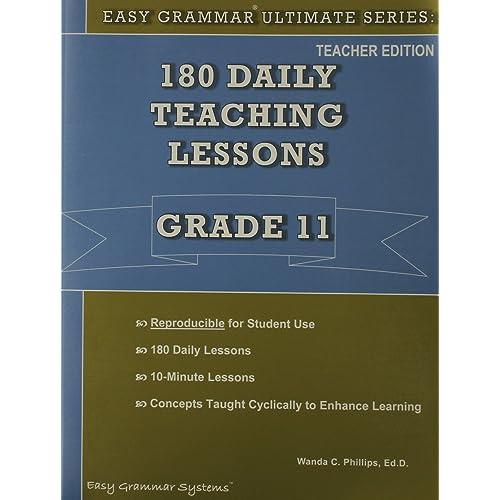Easy Grammar Ultimate Series Teacher Book - Grade 11