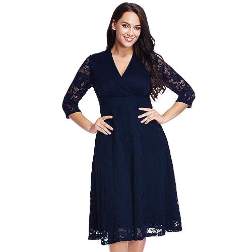 5a61145a9b Lookbook Store Women s Plus Size Lace Bridal Formal Skater Dress 12W-32W