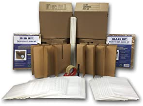 UBOXES Kitchen Moving Box & Supplies Kit #1 4 Boxes with Dish/Glass Inserts