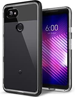 Caseology Skyfall for Google Pixel 2 XL Case (2017) - Clear Back & Slim Fit - Black