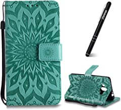 Huawei Mate Case  Huawei Mate Case Wallet Slynmax Sunflower Design Magnetic Flip Book Style Cover Case Premium Wallet CoverCard Slot Strong Magnet  Black Stylus Smoothly Cash Pocket Green