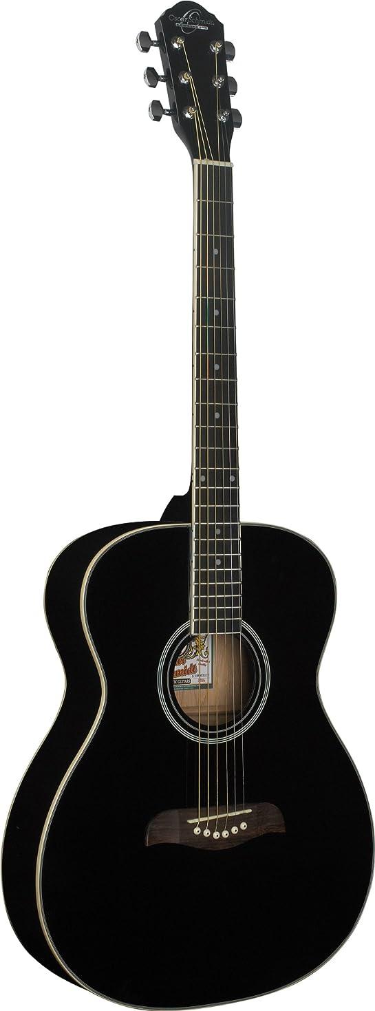 まともな読者カウントアップOscar Schmidt オスカーシュミット OAB アコースティックギター - Black アコースティックギター アコギ ギター (並行輸入)