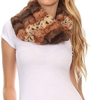 Manula Long Wide Infinity Wrap Around Fuzzy Fur Fall Winter Classic Scarf