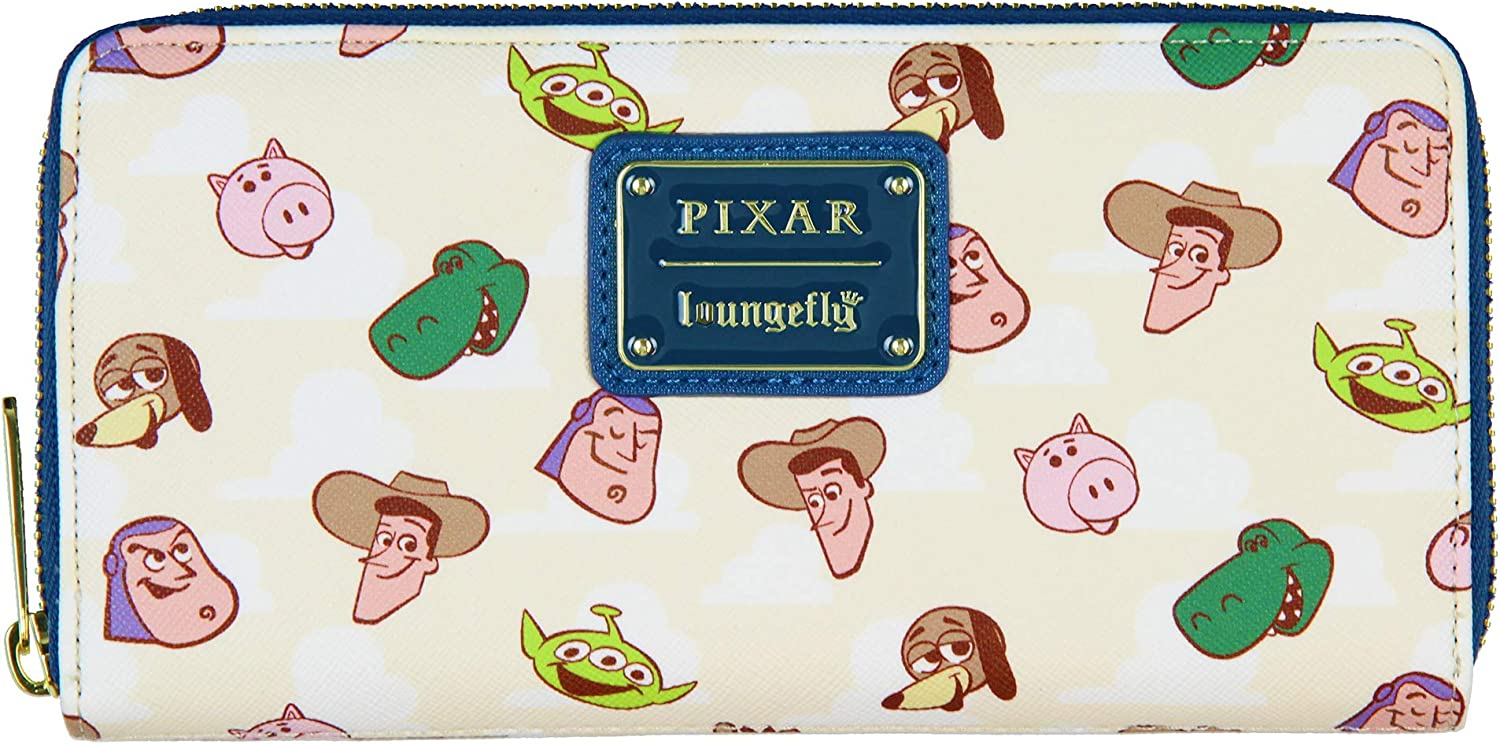 free Regular dealer Loungefly x Disney Toy Story Allover Character L Face Faux Print