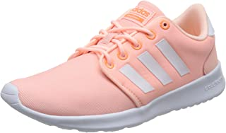 adidas Women's Cloudfoam QT Racer Shoes, Haze Coral/Footwear White/Hi-Res Orange