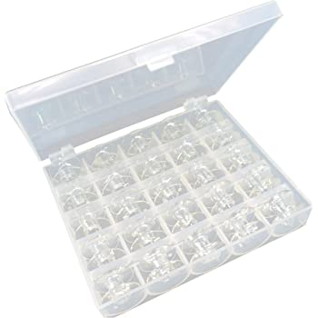 New brothread Plástico Caja de Almacenamiento con 25 canillas vacías Bobinas de Hilo Size A (SA156) para Máquina de bordar y coser: Amazon.es: Hogar