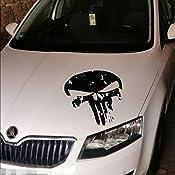 Myrockshirt Punisher Motorhaube Ca 60 Cm Aufkleber Auto Lkw Autoaufkleber Tuning Sticker Vinly Bonus Testaufkleber Estrellina G Auto