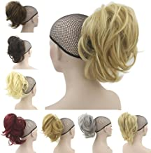 Oubeca Claw Thick Wavy Curly Pony Tail Short Layered Ponytail Clip In Hair Extensions (613H16)