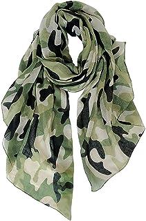 DAMILY Echarpes - Foulard Légère de Voyage Camouflage Imprimer Châle Wrap