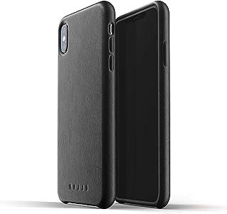 Hujjo Full Leather Full Grain Leather For iPhone XS Max - black