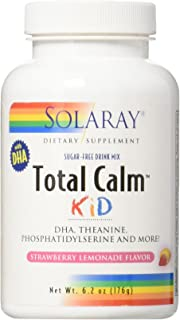 Solaray Total Calm for Kids, Powder, Strawbry Lemonade (Btl-Plastic) | 176g
