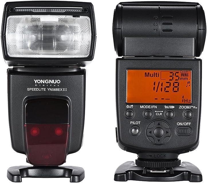 Flash Yongnuo Speedlite YN- 568EX II – Unidad de Flash Master E-TTL–HSS para Canon EOS DSLR