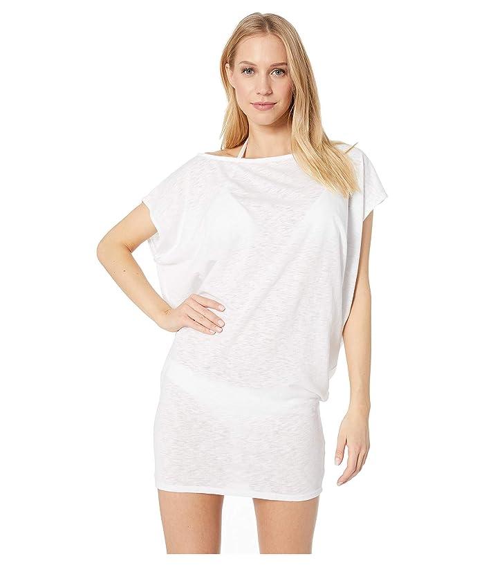 Vitamin A Swimwear Ella Tunic Cover-Up (Ecocotton White) Women
