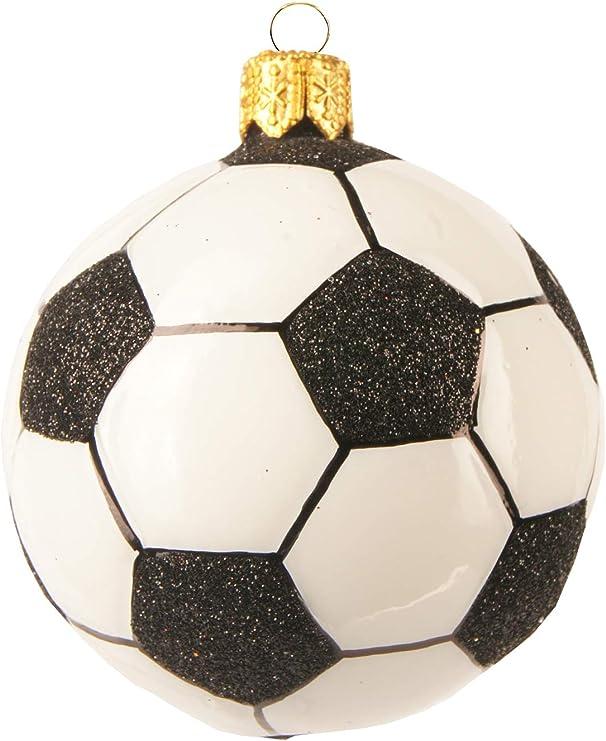 Weihnachtskugel Figur Sport Fußball Christbaumkugel Glas Motiv handgemacht Kugel
