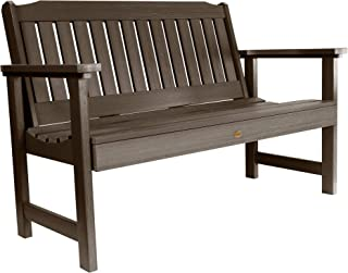 Highwood AD-BENW2-ACE Lehigh Garden Bench, 4 Feet, Weathered Acorn