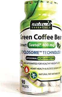 Liposomal Svetol Green Coffee Bean Extract | 400mg per Pill | Clinically Studied Weight-Loss | Maximum Absorption Formula ...