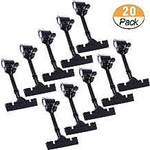 20PACK POP Adjustable Plastic Clip-on Style Merchandise Sign Display Clip Holder (Black)