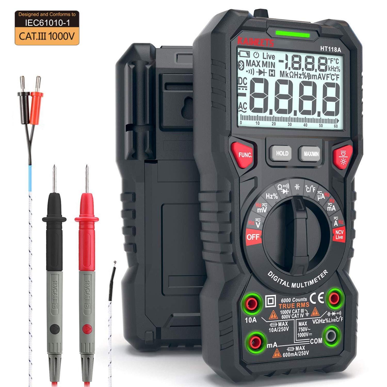 KAIWEETS Multimeter Resistance Capacitance Temperature