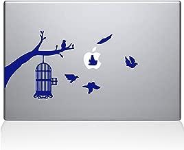 "The Decal Guru Birdcage tree Apple Ad Decal Vinyl Sticker, 13"" MacBook Pro (2015 & Older Models), Dark Blue (2309-MAC-13P-DB)"