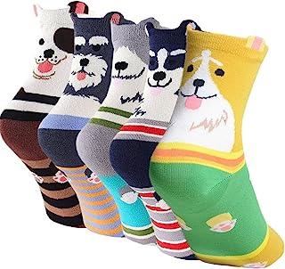 Calcetines Animales Mujer Calcetines de Divertidos Ocasionales, Mujer Novedad Calcetines de Gato