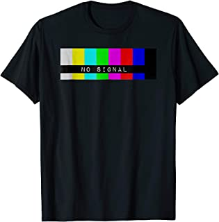 No Signal Small TV Screen Color Bars Test Pattern T-Shirt