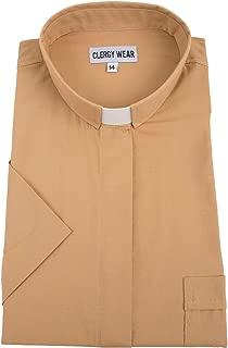Women's Short Sleeve Tab Collar Clergy Shirt