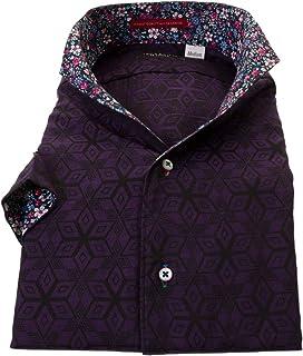 ワイシャツ 半袖スキッパー 半袖 ドレスシャツ 国産 綿 100% メンズ RLN205-161