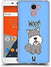 Head Case Designs Schnauzer Happy Puppies Soft Gel Case Compatible for Wileyfox Swift 2 / Plus