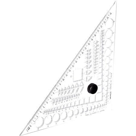 バンコ 三角定規45°テンプレートプラス