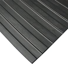 Rubber-Cal 03_167_W_WR_20 Wide Rib Corrugated Rubber Floor Mat, 1/8
