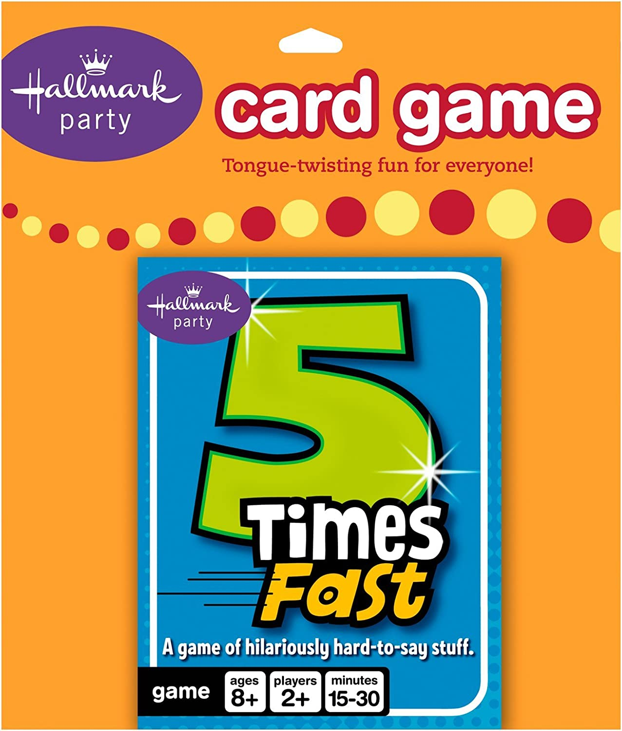 Hallmark 5 Times Fast Card Game Party Accessory