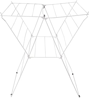 MSV 130095 Etendoir tétras 13m de Acier INOX/PP en Blanc, Polypropylène, 75,5x65x57 cm