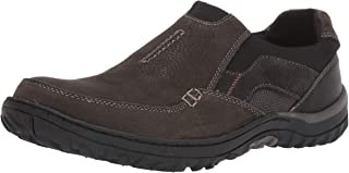 Nunn Bush Mens 84827-013 Quest Moccasin Toe Rugged Casual Leather Slip on Loafer with Memory Foam Insole