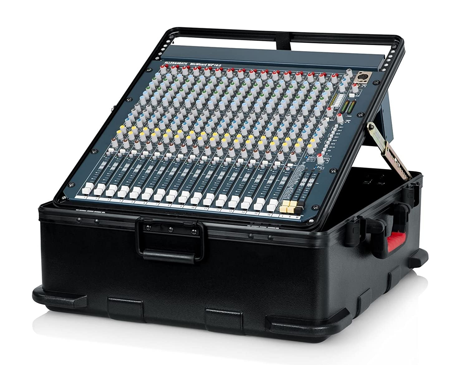 Gator Cases Molded Flight Case for Rack Mountable Mixers Up to 12U Rack Space with TSA Approved Locking Latch (GTSA-MIX12PU)
