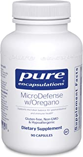 Pure Encapsulations - MicroDefense with Oregano - Support for Healthy Gastrointestinal Tract Function and Microbial Balance - 90 Capsules