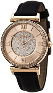 Michael Kors Runway Women's Rose Gold and White Dial Leather Band Watch - MK2376