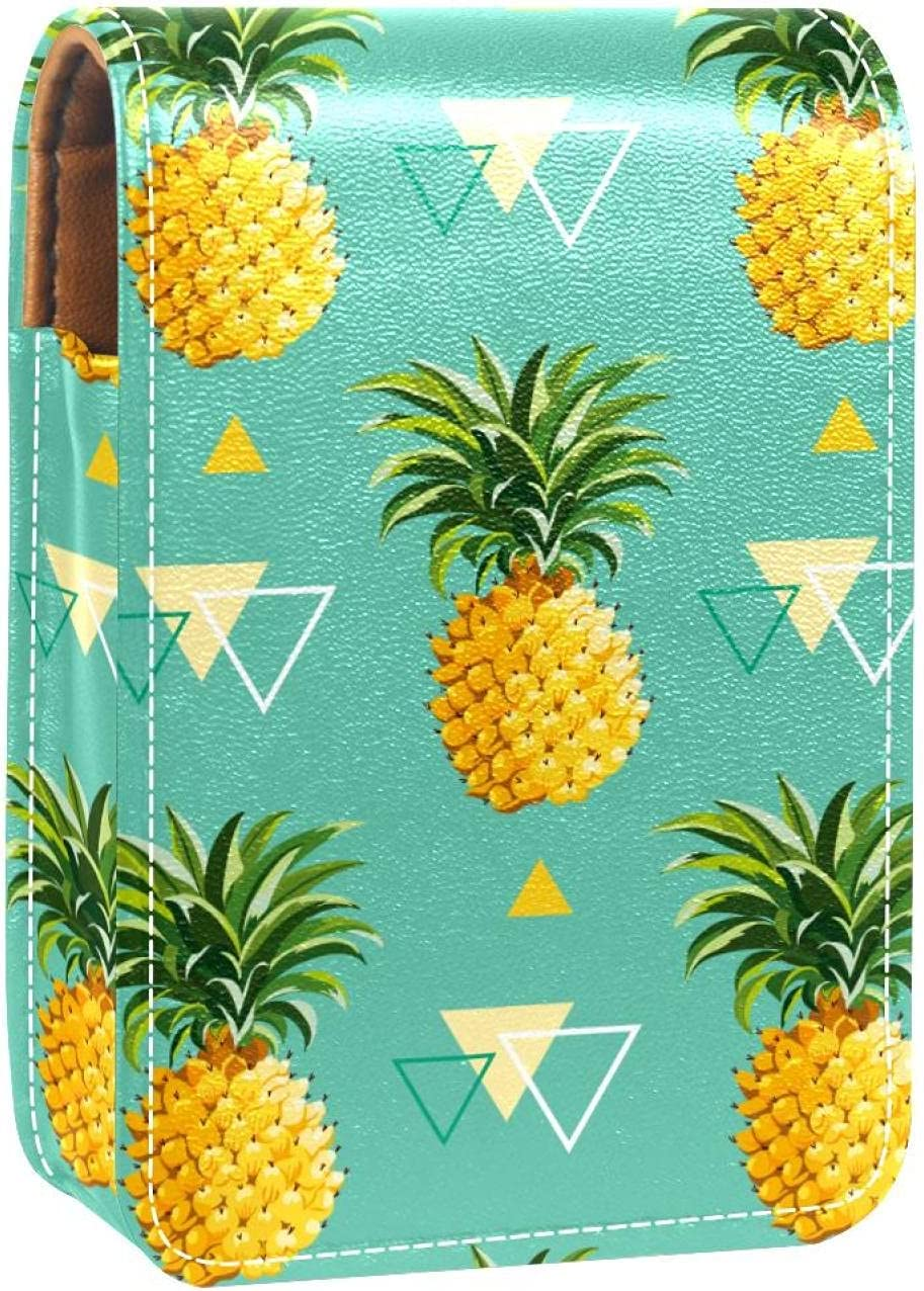Lipstick Case With Mirror San Diego Mall Cute Gloss Fruit Discount mail order Lip Green Pineapples