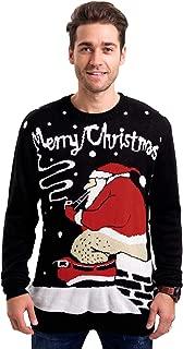 santa pooping in chimney sweater