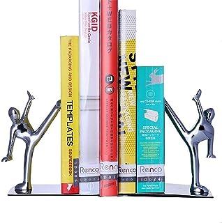 حامل كتب معدني إبداعي للكتب ، من الفولاذ المقاوم للصدأ Kung Fu Man Nonskid Humanoid Bookends for Home Office Library Schoo...