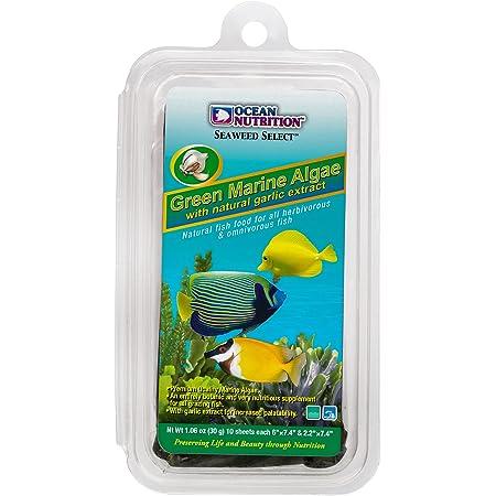 Ocean Nutrition Algae Seaweed Fish Food with Clip Inside (Green, 30 g)
