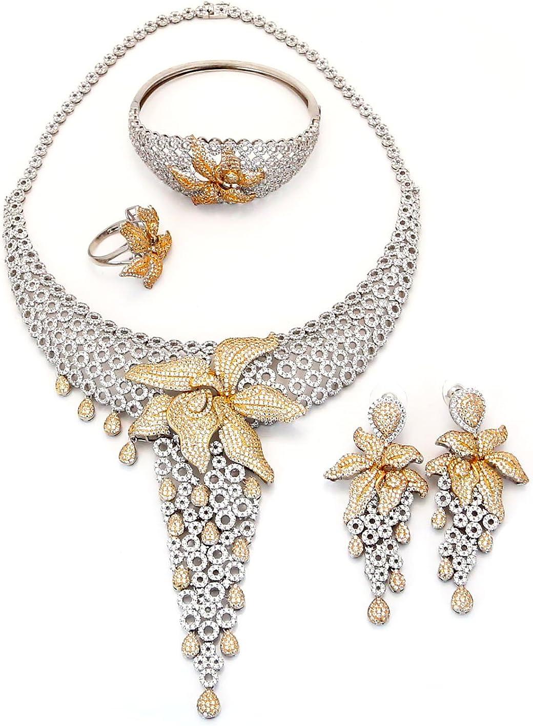 Yulaili Wedding Jewelry Set,17