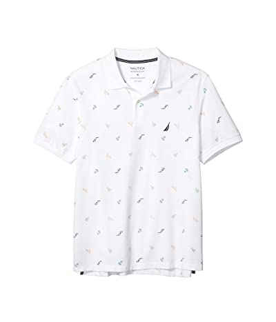 Nautica Big & Tall Big Tall Fashion Knit Polo (White) Men