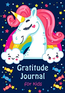 Gratitude Journal for Kids: Girl Unicorn 90 Days Daily Writing Today I am grateful for... Children Happiness Notebook (Volume 5)