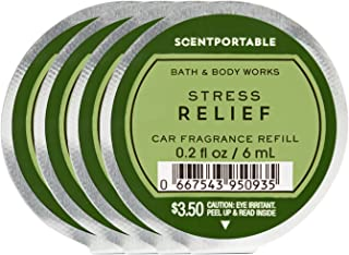 Bath and Body Works 4 Pack Scentportable Fragrance Refill Stress Relief Eucalyptus Spearmint. هر کدام 0.2 اونس.