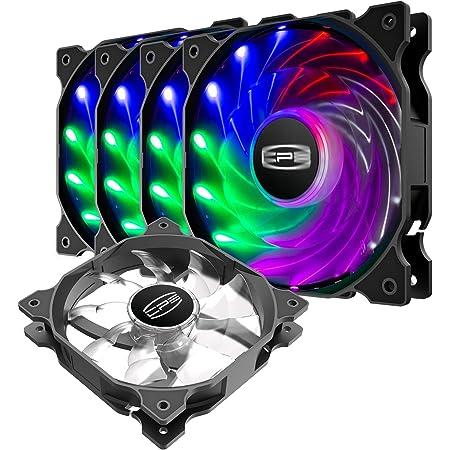 CP3 ventilateur pc à 3 broches, couleur fixe, ventilateur pc 120mm à faible bruit, ventilateur argb haute performance avec roulement hydraulique pour boîtier de PC de jeu (paquet de 5)