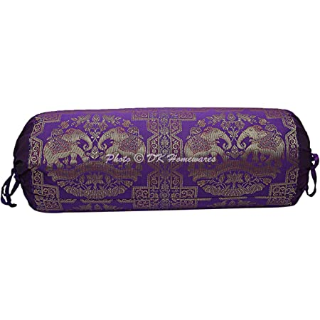 Traditional Bolster Cover Mandala Pillow Cushion Indian Cylindrical Neck Bolster
