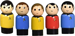 Retail Sales Solutions Star Trek Complete Pin Mate Collection, Dr. Leonard Mc Coy, Captain James T Kirk, 1st Officer Spock, Lieutenant Hikaru Sulu and Chief Engineer Montgomery Scott