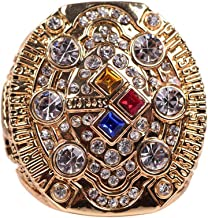 HASTTHOU 2008 Pittsburgh Steelers Super Bowl Championship Replica Ring (Yellow)