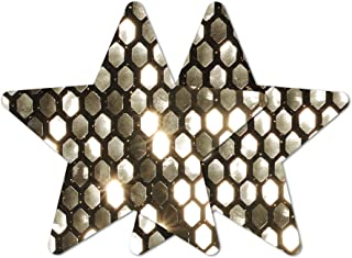 Nippies Re-Style Black Gold Sequins Reusable Star Self Adhesive Nipple Cover Pasties